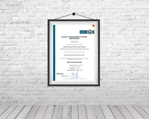 quality management system certificate hosinox